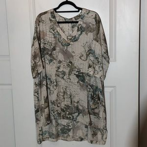 Melissa McCarthy Seven Astronomy  Shirt Dress
